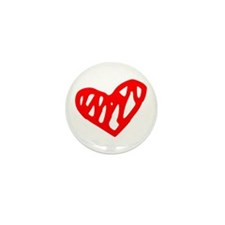heart 73-MWH red Mini Button (100 pack)