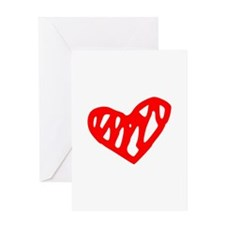 heart 73-MWH red Greeting Cards