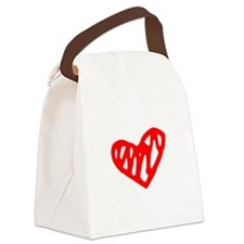 heart 73-MWH red Canvas Lunch Bag