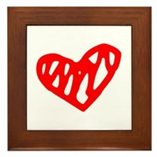 heart 73-MWH red Framed Tile