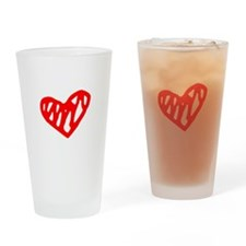 heart 73-MWH red Drinking Glass