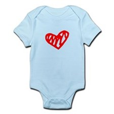 heart 73-MWH red Body Suit