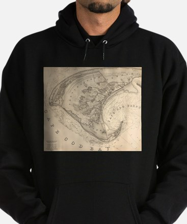 Vintage Map of Provincetown (1836) Hoodie (dark)