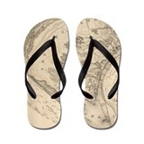 Old cape cod map Flip Flops