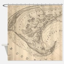 Vintage Map of Provincetown (1836) Shower Curtain
