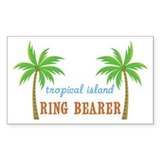 Ring Bearer Tropical Wedding Rectangle Decal