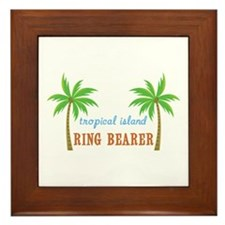 Ring Bearer Tropical Wedding Framed Tile