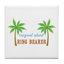 Ring Bearer Tropical Wedding Tile Coaster