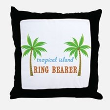 Ring Bearer Tropical Wedding Throw Pillow