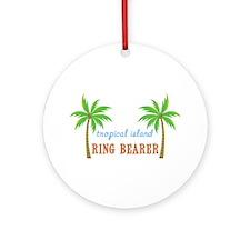 Ring Bearer Tropical Wedding Ornament (Round)