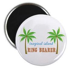 """Ring Bearer Tropical Wedding 2.25"""" Magnet (10 pack"""