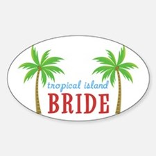 Bride Tropical Island Oval Decal