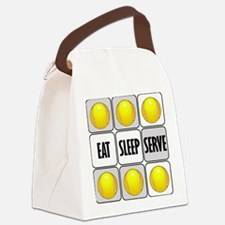 Eat Sleep Serve Tennis Canvas Lunch Bag