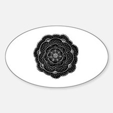 Black and White Rose Flower Decal