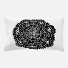 Black and White Rose Flower Doily Pillow Case