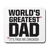 Awesome dad Classic Mousepad