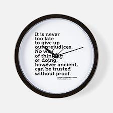 Prejudices by Thoreau Wall Clock