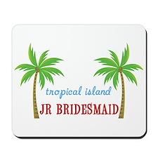 Jr Bridesmaid Tropical Wedding Mousepad