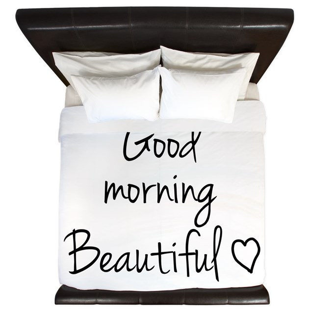 Good Morning My Love Black And White : Good morning my love king duvet by your tshirt