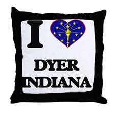I love Dyer Indiana Throw Pillow