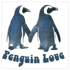 Penguin Love Canvas Art
