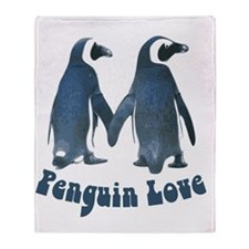 Penguin Love Throw Blanket