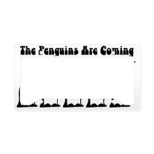 The Penguins Are Coming License Plate Holder