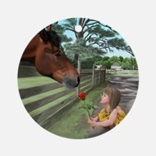 special connections between a girl and her horse O