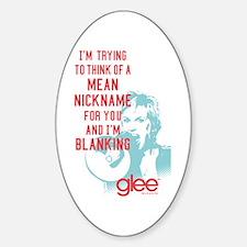 Glee Sue Mean Nickname Sticker (Oval)