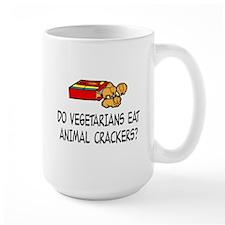 DO VEGETARIANS EAT ANIMALA CRACKERS Mugs