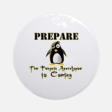 The Penguin Apocalypse Round Ornament