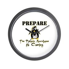 The Penguin Apocalypse Wall Clock
