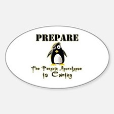 The Penguin Apocalypse Sticker (Oval)