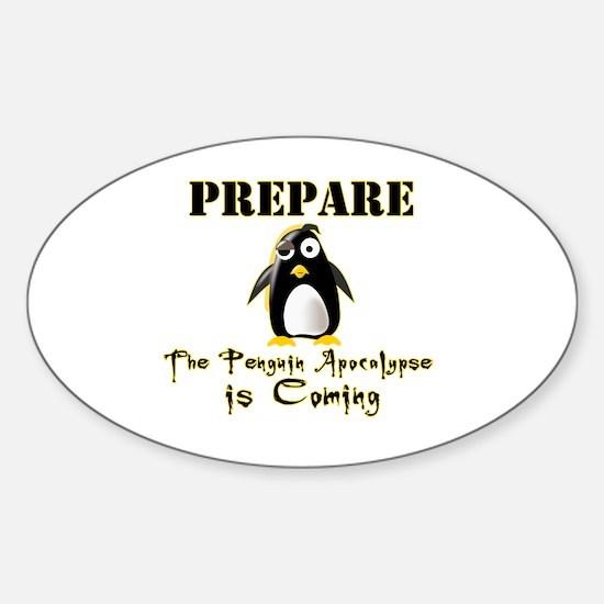 The Penguin Apocalypse Sticker (Oval)