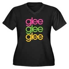 Glee Three C Women's Plus Size V-Neck Dark T-Shirt
