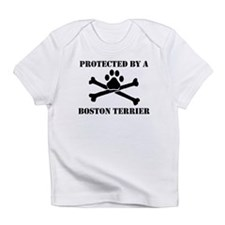 Protected By A Boston Terrier Infant T-Shirt
