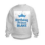 CUSTOM - 1st Birthday Prince! Kids Sweatshirt