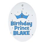 CUSTOM - 1st Birthday Prince! Oval Ornament
