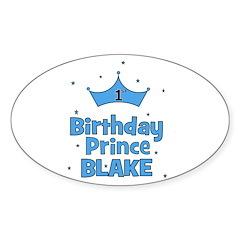CUSTOM - 1st Birthday Prince! Oval Decal