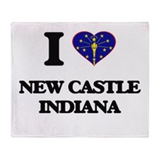 I love New Castle Indiana Throw Blanket