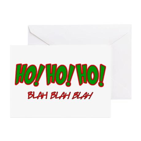 Ho Ho Ho - Blah Greeting Cards (Pk of 10)