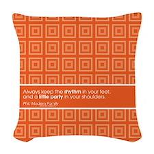 Modern Family Little Party Woven Throw Pillow