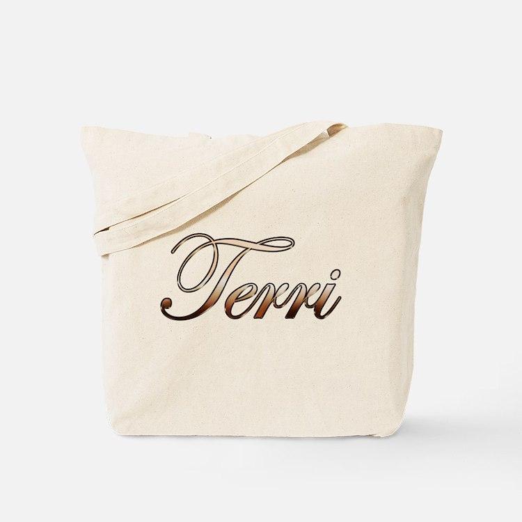 Gold Terri Tote Bag