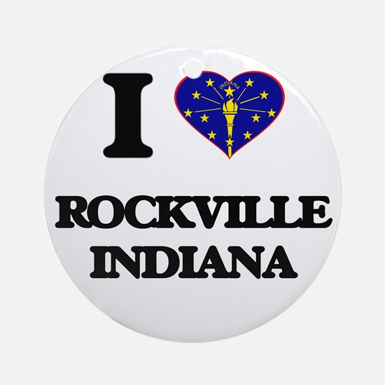 I love Rockville Indiana Ornament (Round)