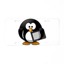 Modern Penguin Aluminum License Plate