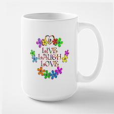 Live Laugh Love Large Mug