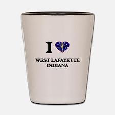 I love West Lafayette Indiana Shot Glass
