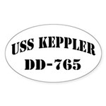 USS KEPPLER Sticker (Oval)