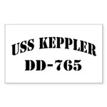 USS KEPPLER Sticker (Rectangle)