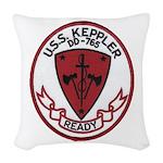 USS KEPPLER Woven Throw Pillow